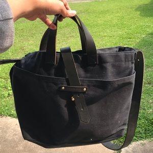 Handbags - Peg & Awl - All Black - Tote with Zipper